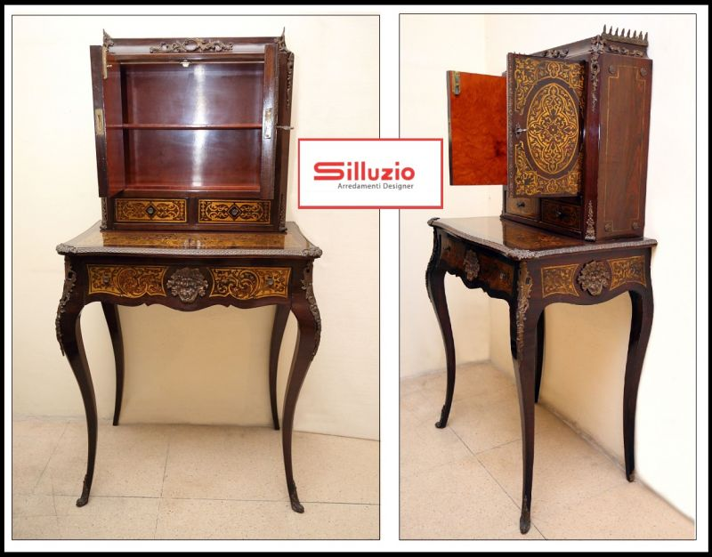 Silluzio Arredamenti Special sale of luxury writing desk in French 17th century style Italy