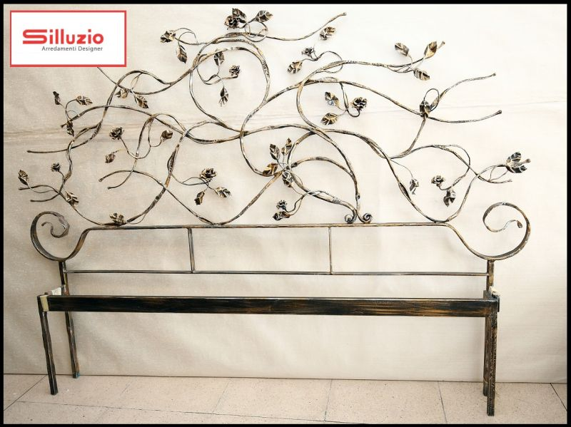 Silluzio Arredamenti Special sale of wrought-iron double-bed frame made in Italy 1968