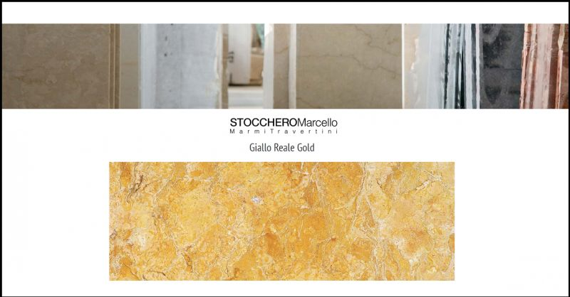 Promotion production and sale of Regal Yellow marble sheets for floors and walls made in Italy